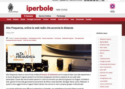 "<a href=""http://www.comune.bologna.it/news/alta-frequenza-online-la-web-radio-che-accorcia-le-distanze?fbclid=IwAR2nB9WWJTZQLLNY2g4uQw5tO46_yOIoesnWnTyFp81XUFmAK2RHhcRMXCs"" target=""_blank"" rel=""noopener noreferrer"">Vai all'articolo</a>"