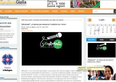 """<a href="""" www.bandieragialla.it/content/\""""sbullonati\""""-un'azione-prevenire-il-bullismo-tra-i-minori """" target=""""_blank"""" rel=""""noopener noreferrer"""">Vai all'articolo</a>"""
